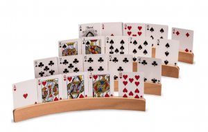 board game wooden card holders