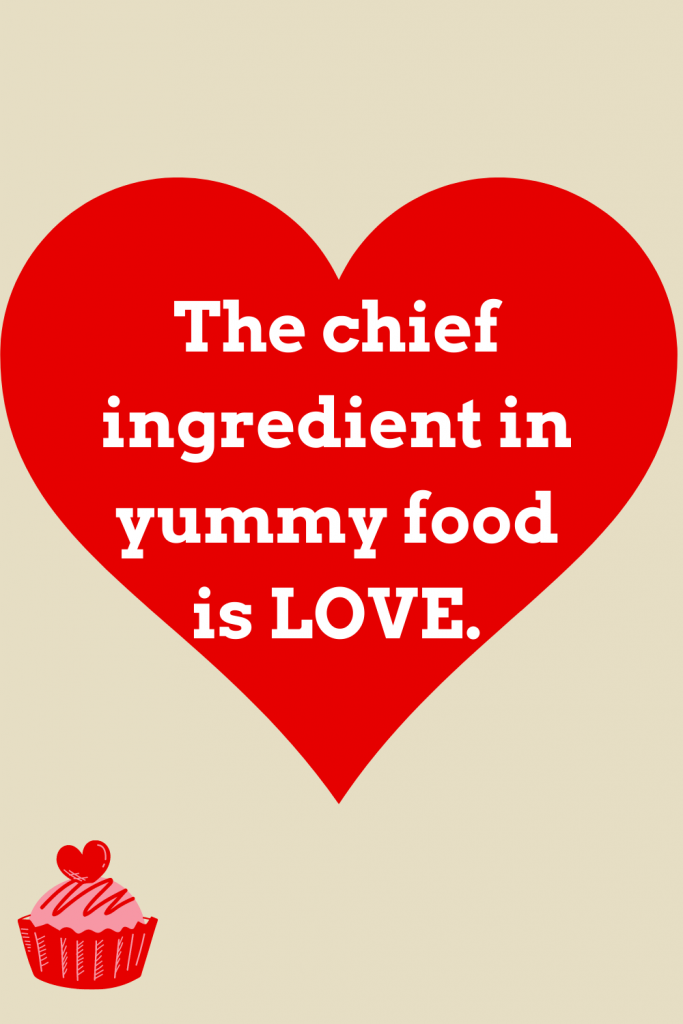 quote yummy food love