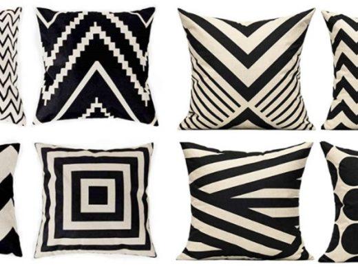 Amazon Throw Pillows with geometric design cozy home hacks