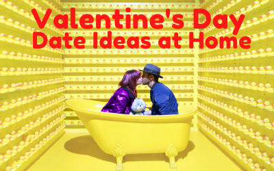 Valentine's Day Date ideas at home banner
