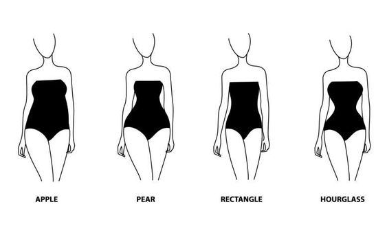body types women pear apple rectangle hourglass
