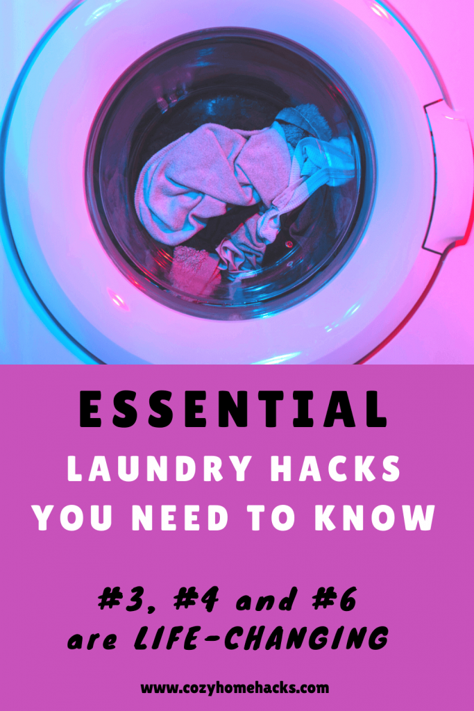 Essential Laundry Hacks Pinterest Pin
