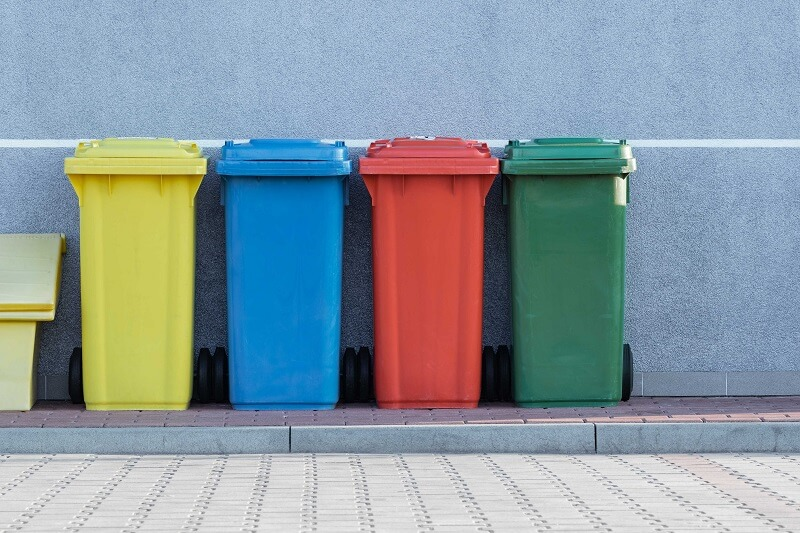 how to declutter your home- trash cans