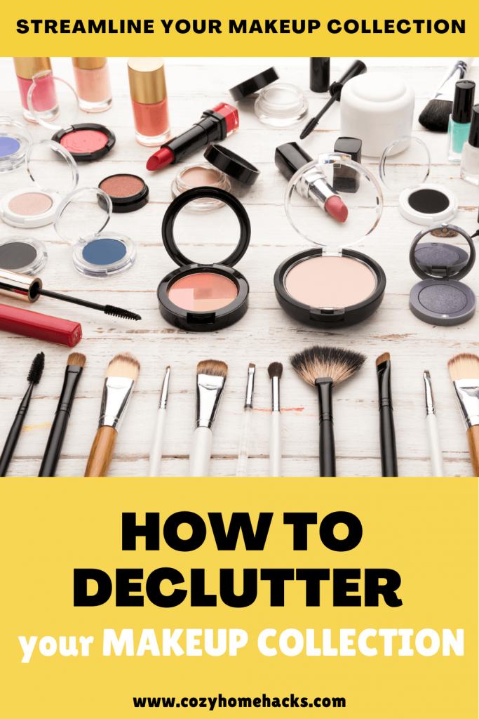 how to declutter makeup pinterest