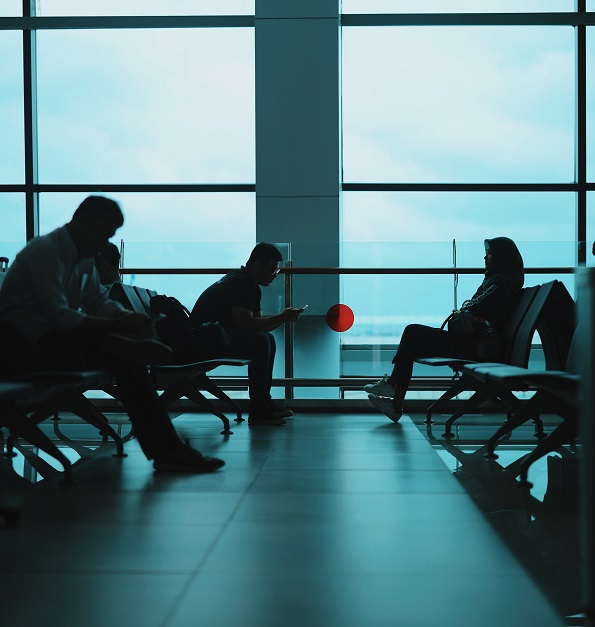 traveling internationally during covid - airports