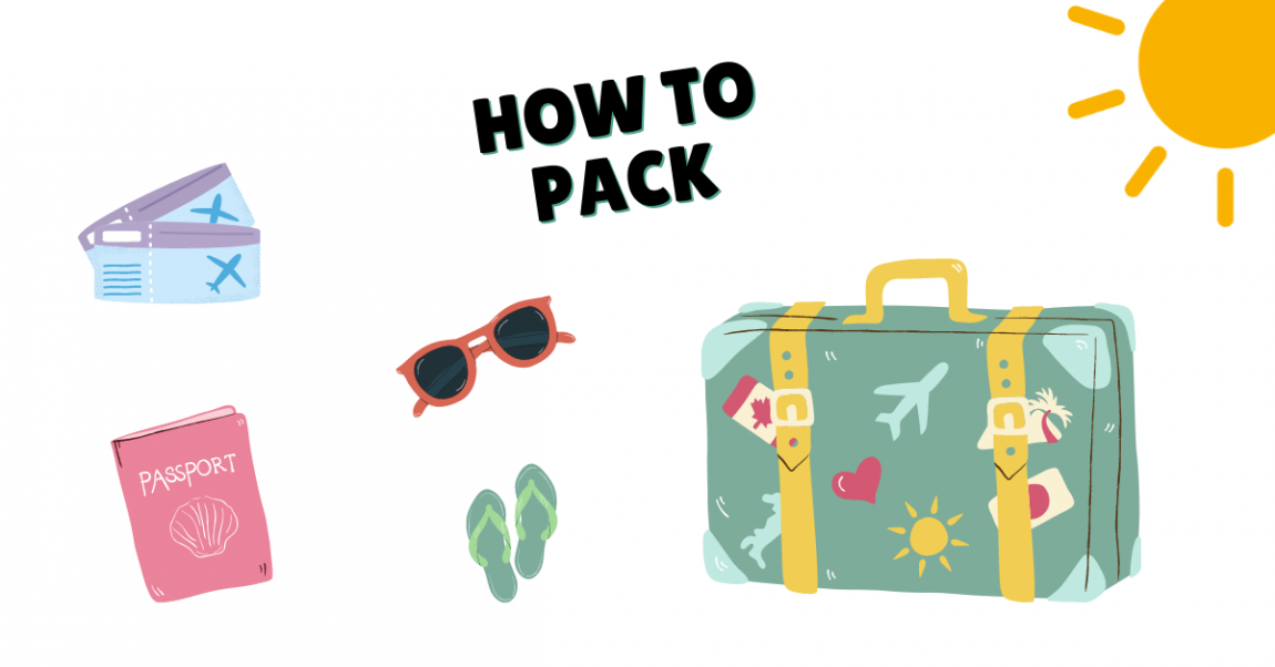 How to pack for summer vacation banner