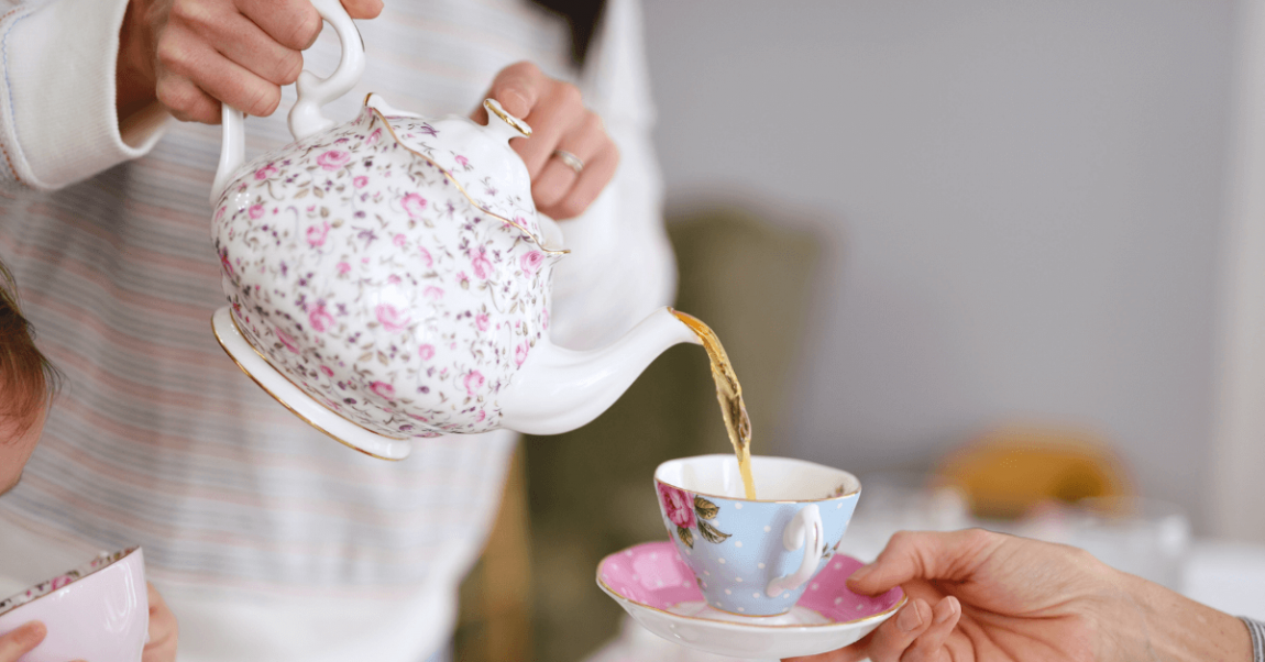 How to host a tea party banner