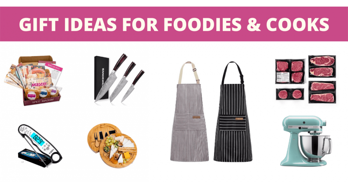 Gift ideas for foodies and cooks banner