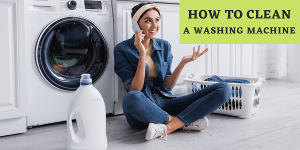How to clean a washing machine banner