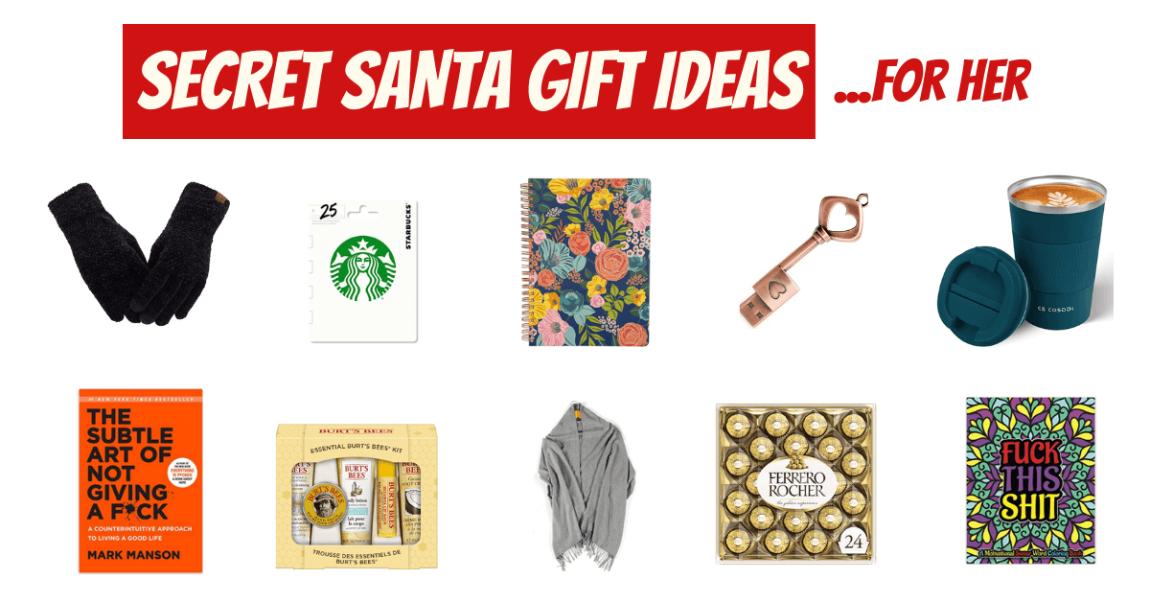 Secret Santa Gift ideas for her banner (1)